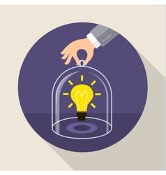 Concept of saving intellectual property vector