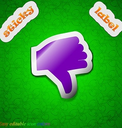 Dislike thumb down icon sign symbol chic colored vector