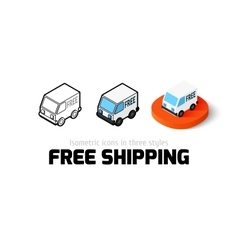Free shipping icon in different style vector image