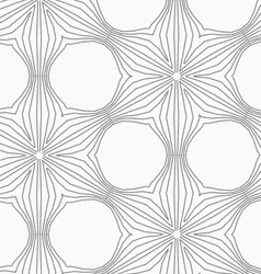 Gray dotted six pedal flower grid vector image