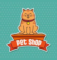 Group mascots pet shop vector