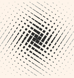 halftone geometric pattern with crossing lines vector image vector image