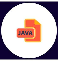 JAVA computer symbol vector image