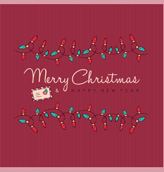 merry christmas and new year red ornament card vector image vector image