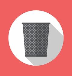 Office trash recycle bin vector image vector image