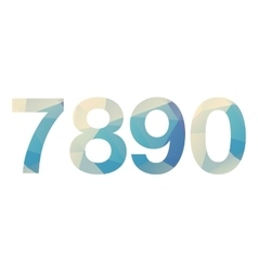 Polygonal bold numbers vector