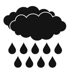 Rain icon simple style vector