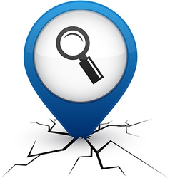 Searching blue icon in crack vector image vector image