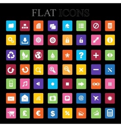 Set of icons Flat Design vector image
