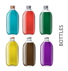 Set of realistic bottles vector image