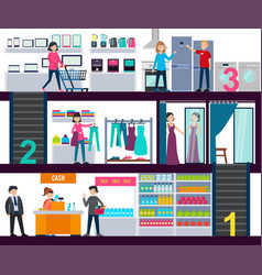 Shopping center infographic template vector