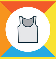 singlet colorful outline symbol premium quality vector image vector image