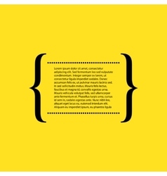 Stock quote the text on a yellow background vector