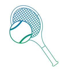 tennis racket and ball equipment sport vector image