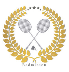 the theme badminton vector image vector image