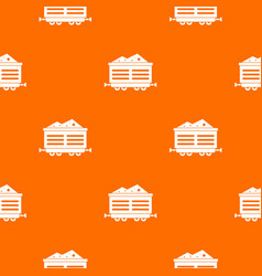 Train waggon with coal pattern seamless vector