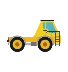 Truck icon under construction concept vector