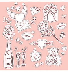valentine design elements 1 vector image