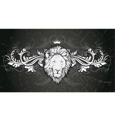 Vintage emblem with grunge background vector