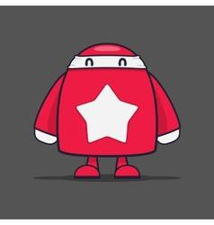 White star ninja vector