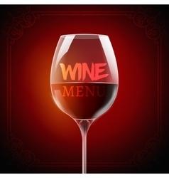 Wine menu card design template list layout vector