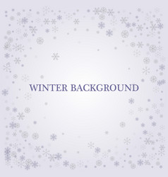 winter silver background fallen defocused vector image vector image