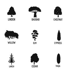 Woodworking icons set simple style vector
