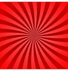 Red rays poster burst vector image