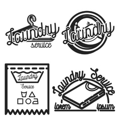 Vintage laundry emblems vector