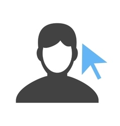 Select male profile vector
