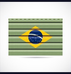 Brazil siding produce company icon vector