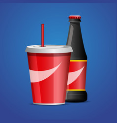 Bottle of cola soda vector