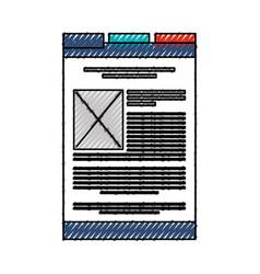 Scribble web tab cartoon vector
