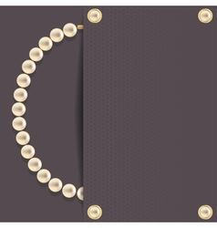 Dark with pearls vector
