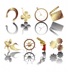 Golden icons vector