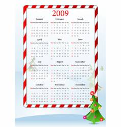 Illustration of holiday calendar vector