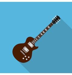 flat guitar 2 vector image