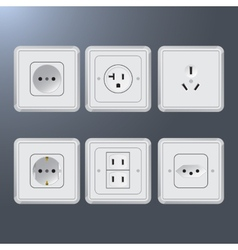 Set of electrical socket different contries vector