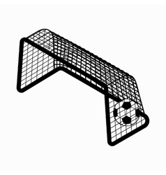 Soccer goal with ball icon isometric 3d style vector