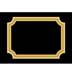 Gold frame beautiful golden black vector