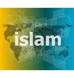 Islam hi-tech background digital business touch vector