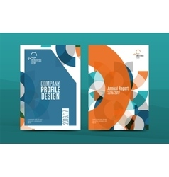 Annual report a4 page cover vector