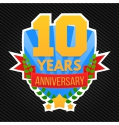 Anniversary emblem template vector image vector image