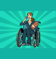 Beautiful woman disabled businesswoman vector