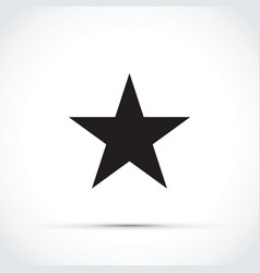 black star icon vector image