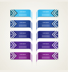 business concept with 10 options vector image