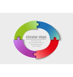 Circular progress steps vector