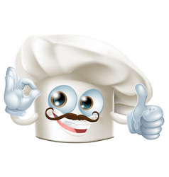 cook cartoon man vector image vector image