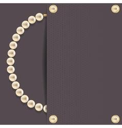 Dark with pearls vector