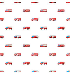 Fire truck pattern vector